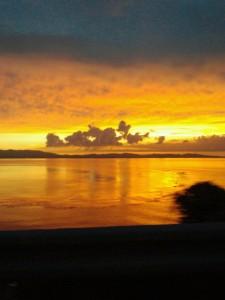 天草から見た有明海の夕日