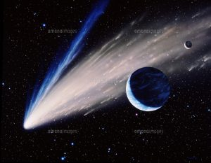彗星、地球、月_amanaimages.com